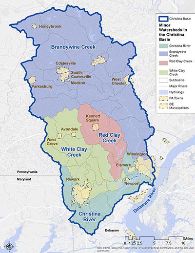 Christina Basin Map