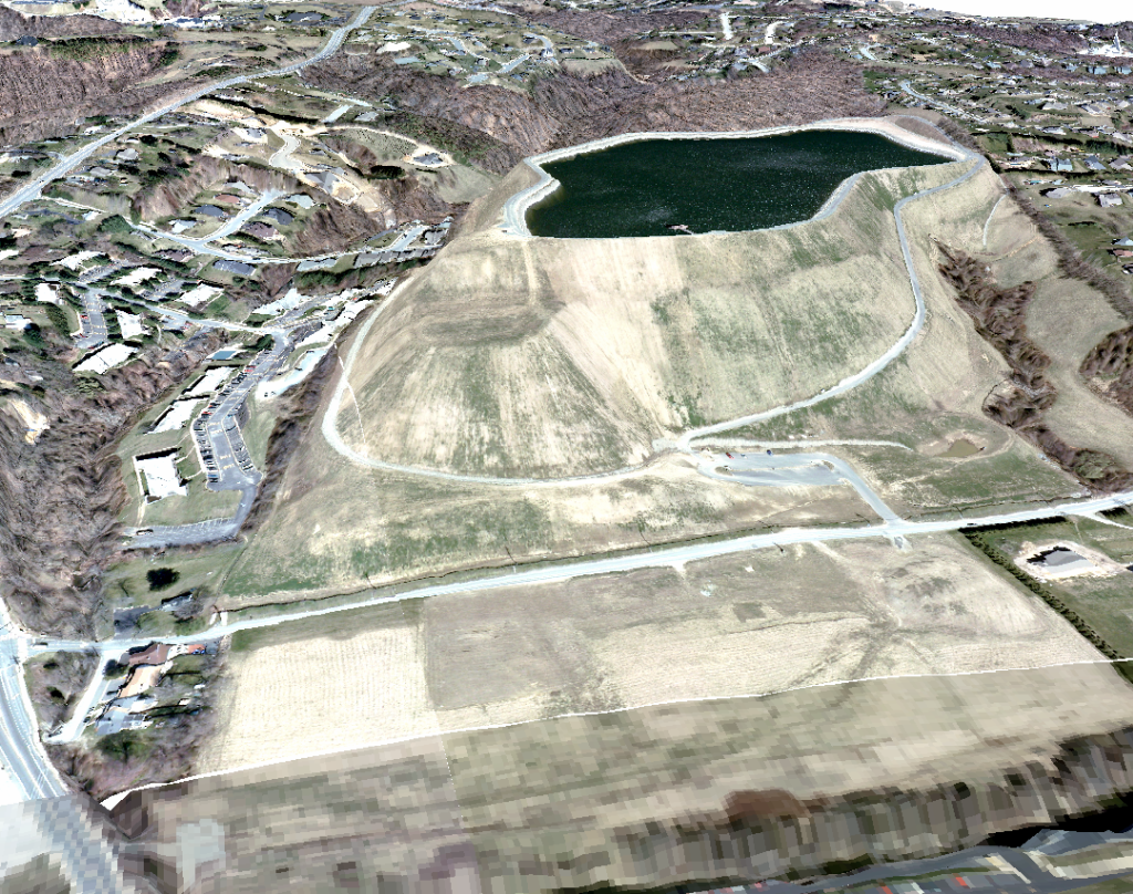 3-D rendering of Newark Reservoir, Oct. 2008