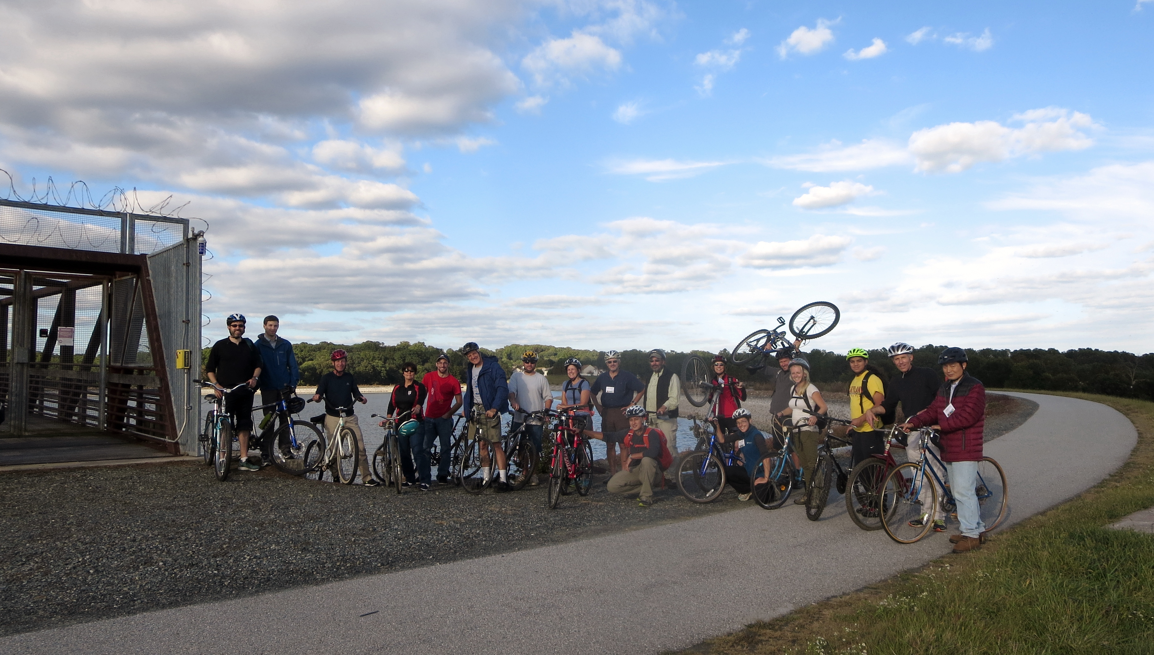 Bicycle tour of Newark water projects at 3rd DWRI Conference, Oct. 2015