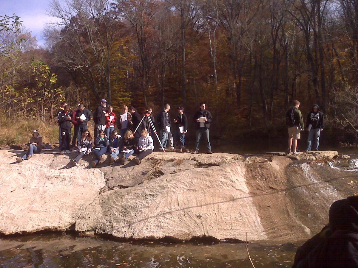 CIEG 440 Water Resources Engineering Field Recon White Clsay Creek Dam No. 5, Nov. 2009