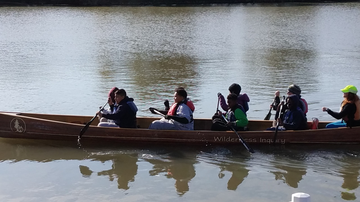 Canoemobile on the Christina River 2016