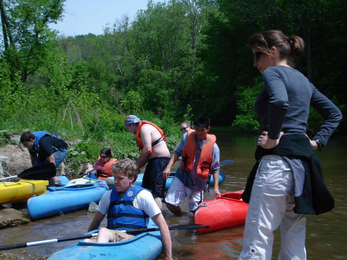 Martha Narvaez at White Clay Creek Field Reconnaissance, May 2009