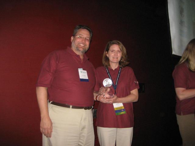 Nicole Minni receives GIS award, April 2008