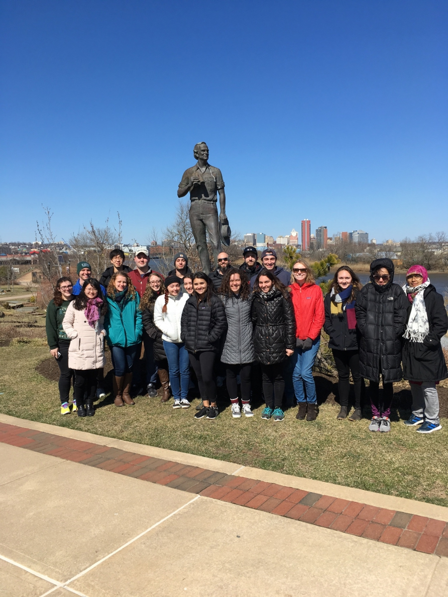 UAPP 411 611 Regional Watershed Management  - Field Recon along the Christina in Wilmington, Del. on March 22, 2017