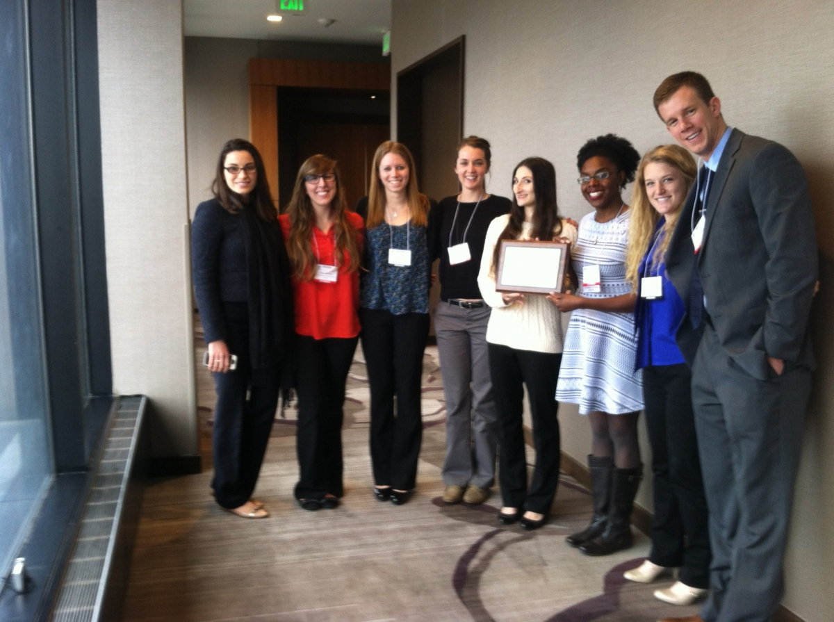 UD AWRA 2015 Outstanding Student Chapter in 2015 Denver, CO.
