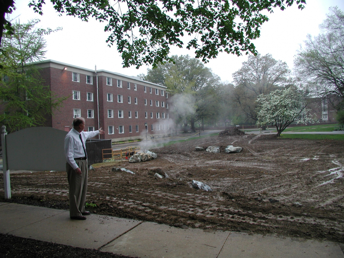 UD Rain Garden, May 2005