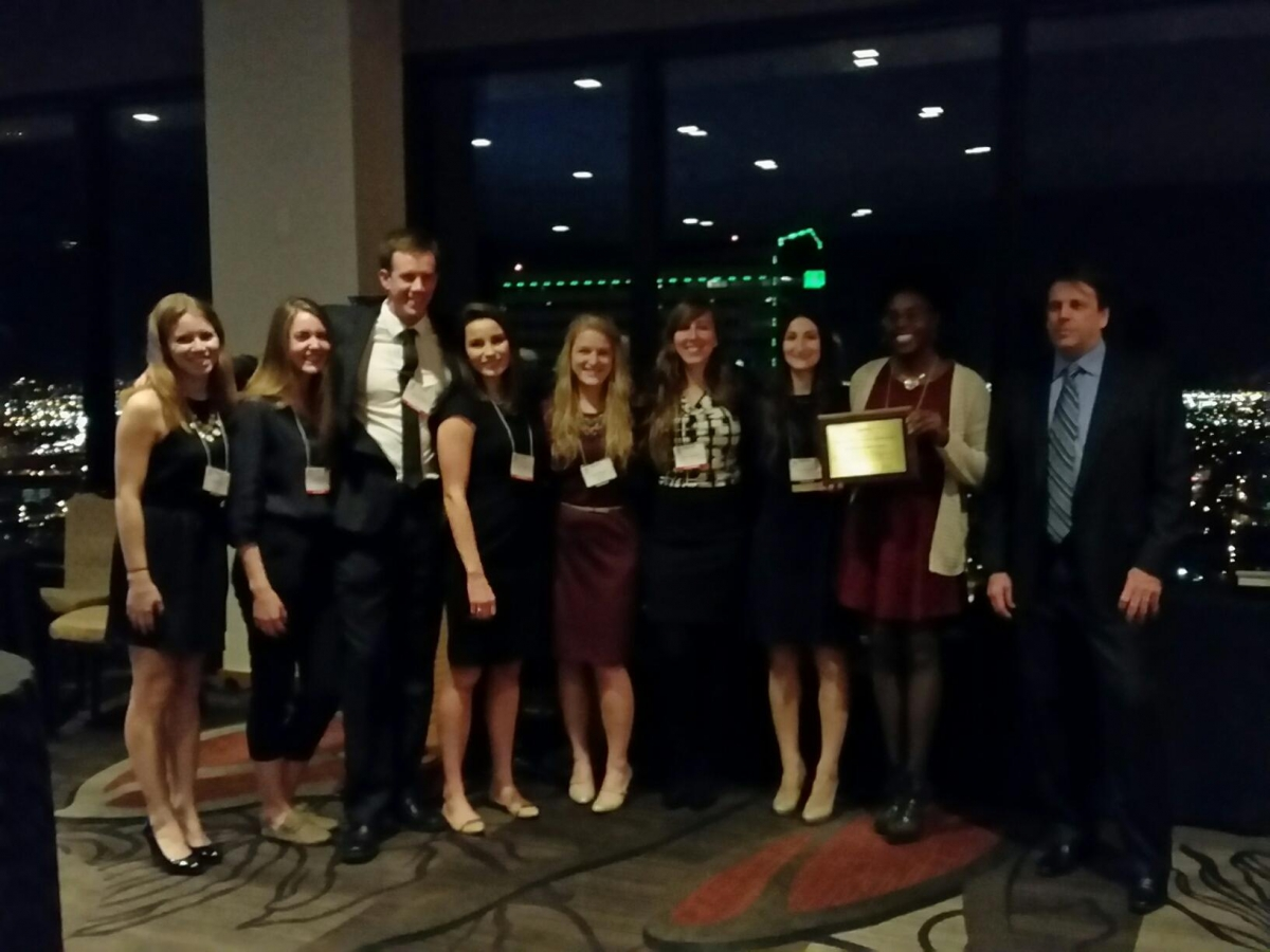 UD Graduate Students win 2015 Outstanding Student Chapter Award from AWRA in Denver, CO., Nov. 2015