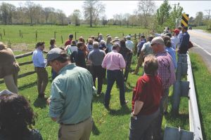 Field Recon of Ag Conservation Project in Brandywine Creek watershed May 3, 2018