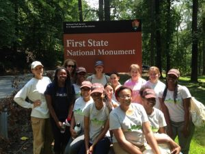 :UDWRC and TNC students conduct field research at First State National Monument along the Brandywine River (Summer 2014)