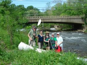 Field recon White Clay Creek Dam No. 4 May 2010.JPG