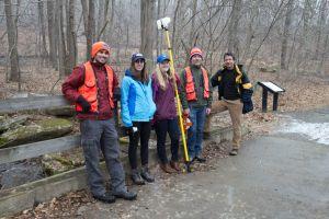 Field research along White Clay Creek Mar 2015.JPG
