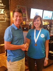 Kristen Molfetta receives SPPA Water Resources Scholarship Award from Jerry Kauffman Jul 2016