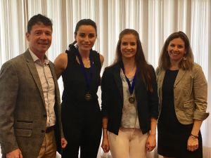 Lauran Askin and Briana Diacopoulos received SPPA Excellence in Water Resources Scholarship Award May 18, 2017