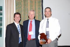 Matt Miller and Jerry Kauffman at BVA annual dinner Oct 2011.JPG