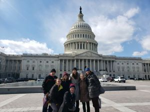 UD Energy and Environmental Policy Graduate Student Kelly Jacobs (second from right) advocates for Delaware River clean water legislation at Congress (Mar 6, 2019)