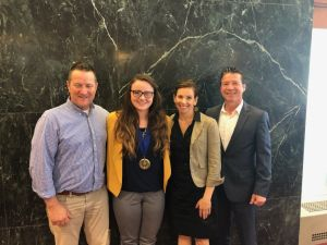 UD Water Science and Policy Graduate Student Jillian Young receives the Biden School Excellence in Water Resources Scholarship Award (May 15, 2019).JPG