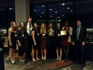 UD grad students win 2015 Outstanding Student Chapter Award from AWRA in Denver, CO Nov 2015