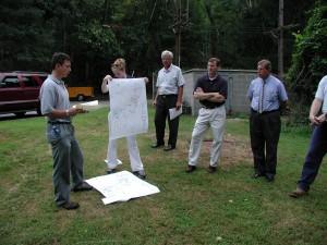 Water supply talk at Newark intake Aug 2002.JPG